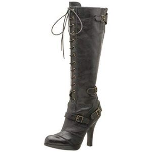 Sam Edelman LIKE NEW Pandora Black Aged Calf Boots